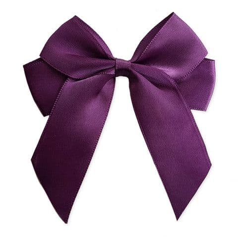 AMETHYST 90mm Large Ribbon Bows (Pack of 6)