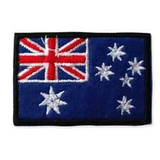 AUSTRAILIA FLAG MOTIF IRON ON EMBROIDERED PATCH APPLIQUE