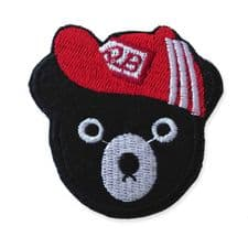 BASEBALL BEAR HEAD MOTIF IRON ON EMBROIDERED PATCH APPLIQUE