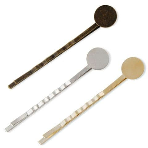 Bobby Hair Pin Slide With 8mm Pad