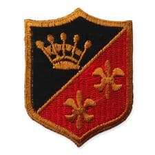COAT OF ARMS MOTIF IRON ON EMBROIDERED PATCH APPLIQUE