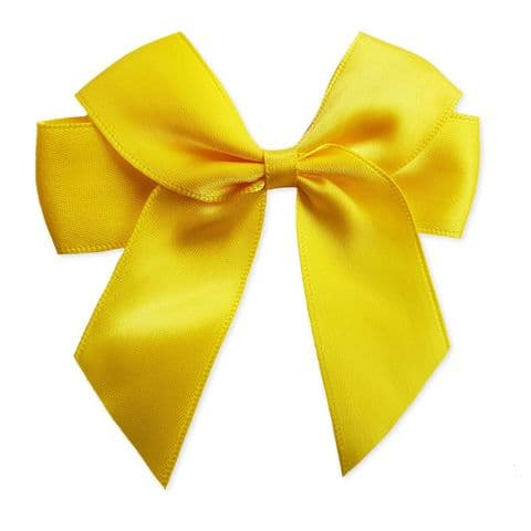 DAFFODIL 90mm Large Ribbon Bows (Pack of 6)