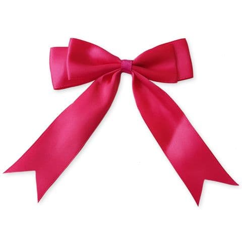 FUCHSIA PINK 100mm Large Ribbon Bows (Pack of 6)