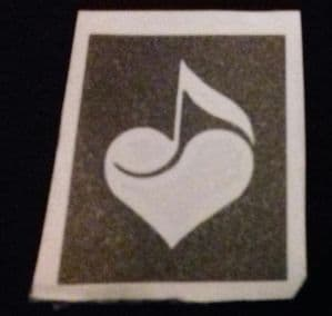 10 - 100 x Music note in  heart stencil for etching on glass   hobby  / craft / music note
