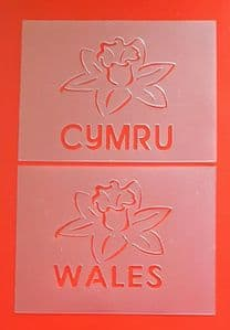 2 x Daffodil face painting stencils