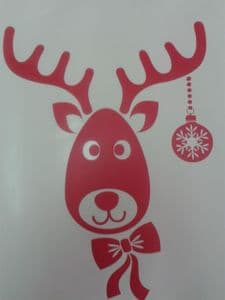3 x Rudolph the Reindeer red stickers Christmas window decoration 12