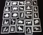 40 x  animal themed tattoo stencils for glitter tattoos / airbrush tattoos / many other application