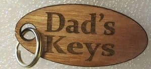 Dad's keys wood key ring gift  Father's Day