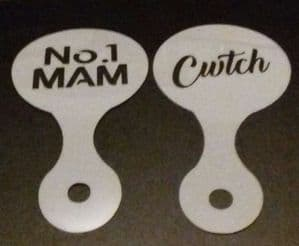 No. 1 Mam & Cwtch word coffee / cappuccino stencils    reusable