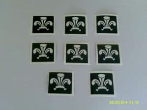 Welsh Feathers stencils - ideal for glitter tattoos / airbrush tattoos / many other uses  St. Davids Day   Wales  rugby  football  boys children
