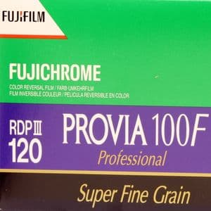 Fuji Provia 100F 100 iso 120 roll Colour Slide Camera  Film
