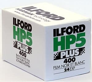 Ilford HP5 400 iso  24 exposure Black & White Camera Film