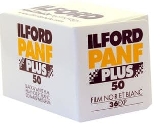 Ilford Pan F 50 iso 36 exposure Black & White Camera Film