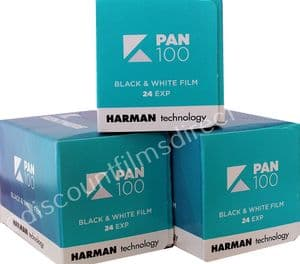 Kentmere (by Ilford) 100 35mm 24 exposure Black and White Camera Film 3 PACK SPECIAL