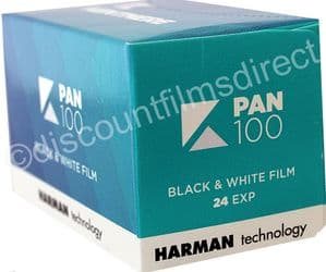 Kentmere Pan (by Ilford) 100 35mm 24 exposure Black and White Camera Film