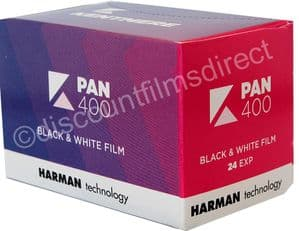 Kentmere Pan (by Ilford) 400 35mm 24 exposure Black and White Camera Film