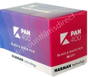 Kentmere  Pan (by Ilford) 400 35mm 36 exposure Black and White Camera Film