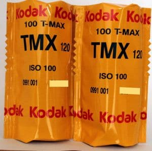 Kodak T-Max 100 iso 120 roll Black & White TWO ROLLS DATED 05/2021