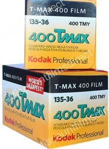 Kodak T-Max 400 iso 36 exposure Black & White Camera Film 2 PACK SPECIAL