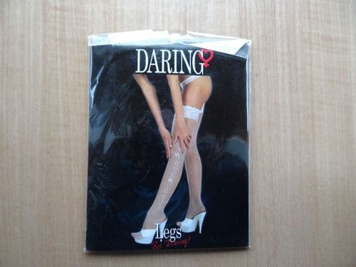 """""""DARING LEGS"""" LACE TOP WITH PRINT STOCKINGS  SIZE:- ONE SIZE D19"""