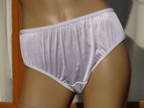 EXQUISITE HANDMADE SILKY TRICOT NYLON BIKINI KNICKERS SIZE:- SMALL/MEDIUM/LARGE/XL  USA - 5/6/7/8