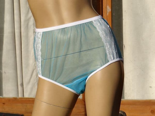 EXQUISITE VINTAGE STYLE ULTRA SEE THRU NYLON PANTIES 4 SIZES:- SMALL-MEDIUM-LARGE-XL USA-5/6/7/8