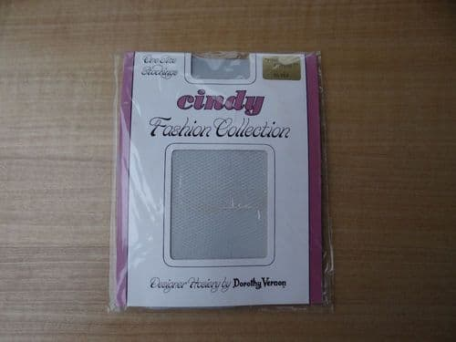 """GENUINE VINTAGE """"CINDY"""" FASHION COLLECTION FINE FISHNET NYLON STOCKINGS ONE SIZE D75"""