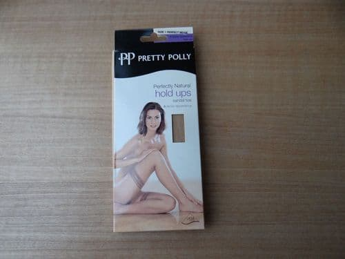VINTAGE PRETTY POLLY 8 DENIER HOLD UPS STOCKINGS SIZE:- 1 D61