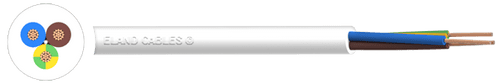 0.75mm² 3 Core Pvc Flex White  - ## per metre ##