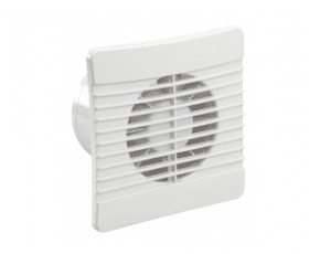 100mm Airvent Low Profile Axial Fan with Timer and Backdraught Shutter