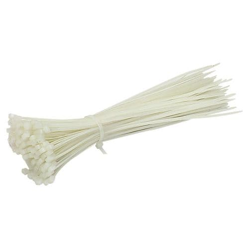 100x CABLE TIES 200X4.8mm NATURAL