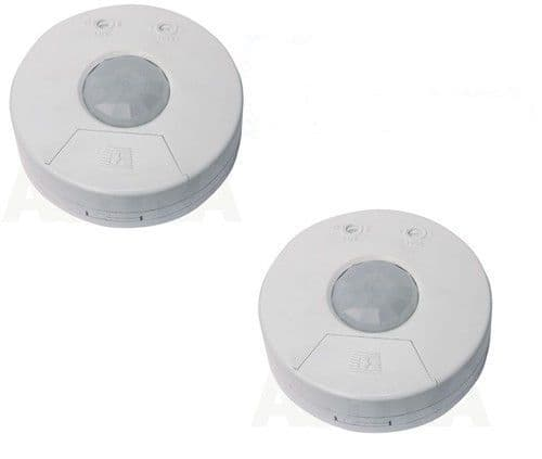 2 X  360 DEGREE surface PIR DETECTOR white ceiling infra red movement indoor