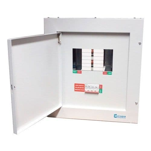 6 way TPN distribution board + 125 AMP Mainswitch