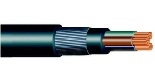 6.0mm 3 CORE SWA STEEL WIRE ARMOURED CABLE - 50 MTR
