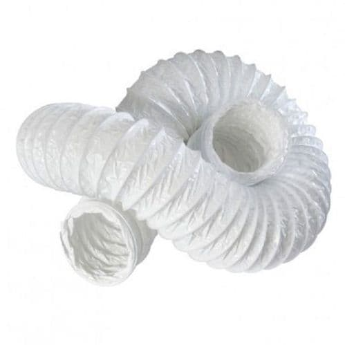 6m 4 inch PVC Ducting 100mm for Extractor Bathroom Fan