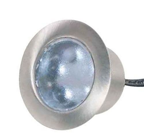 Additional / Replacement Round LED Plinth White or Blue Silver ELD PL1RDW /B