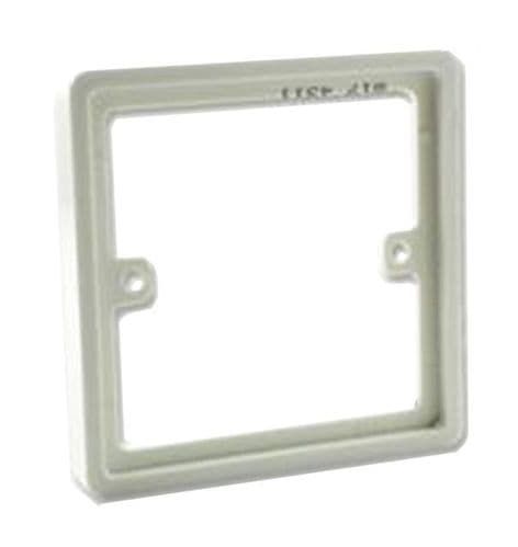 BG 1 GANG EXTENSION FRAME WHITE