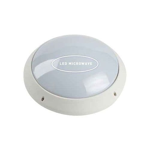 Burnham LED Wall Light With / Without Microwave PIR 7W IP44 ELD UTILITY LIGHT