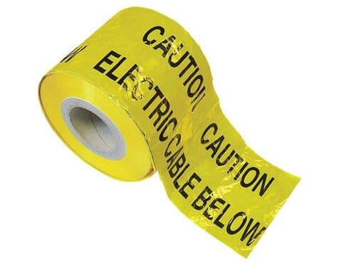 CAUTION ELECTRIC CABLE WARNING TAPE  UNDERGROUND