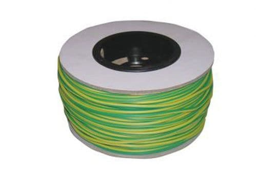 Drum of 3mm PVC Earth Sleeving - 100 metre - GY3MM