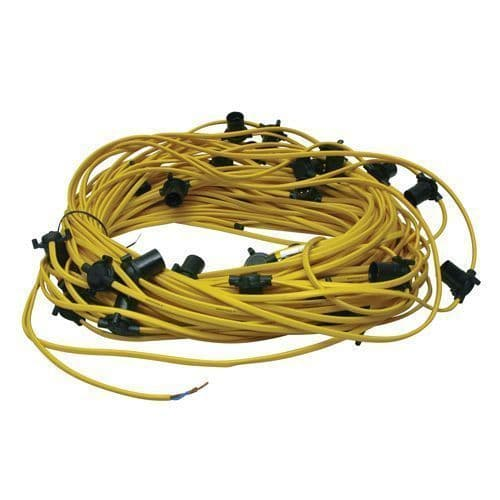 Festoon LIGHTING Set 3Mtr Space BC 60W 100Mtr Cable SITE HARNESS