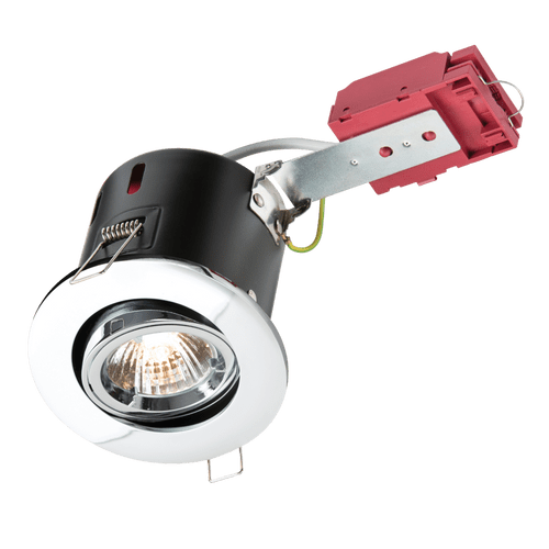 FIRE RATED DOWNLIGHT GU10 TILT POLISHED CHROME