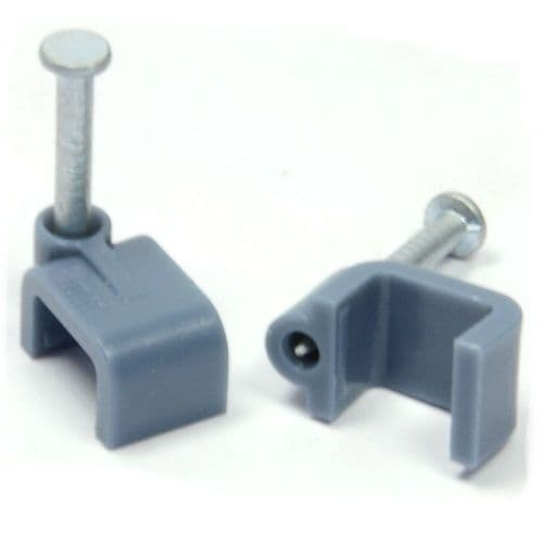 flat twin & earth cable clips box of 100 GREY