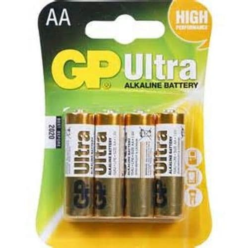 GP ULTRA 4 X AA Alkaline batteries 4 pack  high performance 1.5 volt LR6