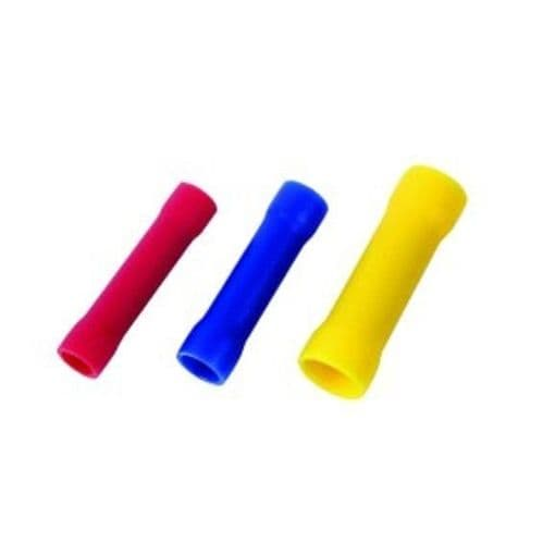 in line splice crimp connectors insulated 1.5nn red 2.5mm blue 6.0mm yellow 100