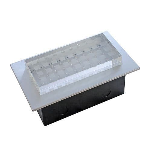 LED Wall Light Crystal RECTANGULAR 2.9W IP54 WHITE satin chrome 240 VOLT