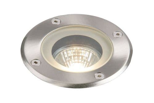 Pillar IP65 50W Recessed Steel Dimmable Halogen Outdoor Uplight Saxby GH98042V