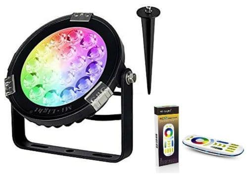 RGB + CCT Outdoor Garden colour changing LED spot spike wall remote dim mi-light