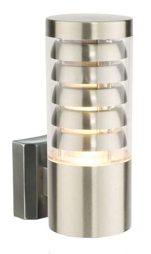 Saxby 13921 TANGO 11W Brushed Stainless Steel Indoor/Outdoor IP44 Wall Light