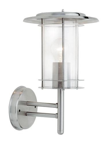 Saxby 4478182 YORK IP44 60W Dimmable Stainless Steel Outdoor Wall Light